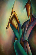 Couples Painting Metal Prints - X Metal Print by Michael Lang