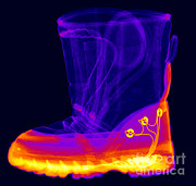 Emitting Framed Prints - X-ray Of A Childs Light-up Boot Framed Print by Ted Kinsman