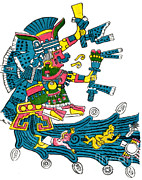 Goddess Of Beauty Posters - Xochiquetzal, Aztec Goddess Of Beauty & Poster by Photo Researchers