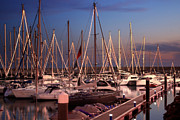 Docked Sailboat Prints - Yacht Marina Print by Carlos Caetano