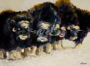 Purple Paintings - Yak Yak Yak by Diane Kraudelt
