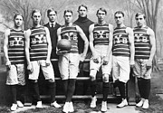 Basketball Player Prints - Yale Basketball Team, 1901 Print by Granger