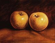 Beverage Painting Prints - Yellow Apples Print by Rick McClung