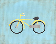 Yellow Bike Framed Prints - Yellow Bike Framed Print by Katie Carlsruh