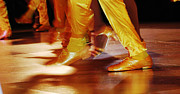 Ballroom Digital Art Posters - Yellow Dancing Shoes Poster by Anahi DeCanio