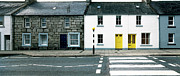 Crosswalk Prints - Yellow Doors Print by Jan Faul