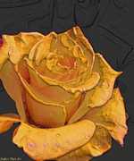 Yellow Rose Art Print by Debbie Portwood