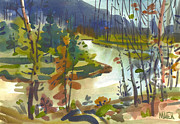 Yellowstone Paintings - Yellowstone River by Donald Maier