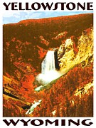 Impressionistic Oil Digital Art - YELLOWSTONE Wyoming Poster by Peter Art Prints Posters Gallery