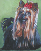 Yorkshire Terrier Prints - Yorkshire Terrier  Print by Lee Ann Shepard