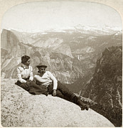 Climber Framed Prints - YOSEMITE VALLEY, c1902 Framed Print by Granger