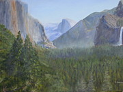 Half Dome Paintings - Yosemite Valley by Marlene Johnson
