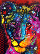 Lion Painting Posters - Young Lion Poster by Dean Russo