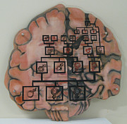 Oil Sculpture Originals - Your Brain on Alzheimers by Art Nomad Sandra  Hansen
