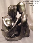 Handmade Ceramics - Your Heart Beats With Mine by Sandi Floyd