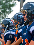 Susan Leggett Photo Metal Prints - Youth Football Metal Print by Susan Leggett