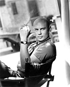Smoking Book Framed Prints - Yul Brynner, 1957 Framed Print by Everett