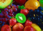 Kiwi Painting Prints - Yummy Fresh Fruit Print by Deborah MacQuarrie