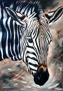 Zebra Paintings - Zebra by Ilse Kleyn