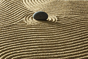Y120817 Art - Zen Stone On Sand by Yuji Sakai