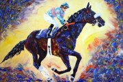 Horse Racing Paintings - Zenyatta Grand Finale by Jennifer Morrison Godshalk