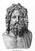Statue Portrait Photo Prints - Zeus Print by Granger
