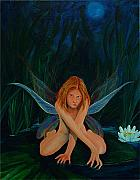 Lilly Pond Paintings - Zhenya by Ned Stacey