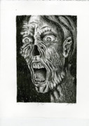 Evil Drawings Originals - Zombie by Kristi Grice