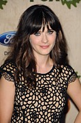 The Bookbindery Prints - Zooey Deschanel At Arrivals For Fox Print by Everett