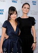 Zooey Deschanel Photo Prints - Zooey Deschanel, Emily Deschanel Print by Everett
