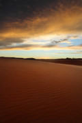 Coral Pink Sand Dunes Photos - Coral Pink Sand dunes at sunset by Pierre Leclerc