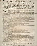Handbill Framed Prints - Declaration Of Independence Framed Print by Granger