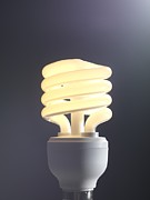 Saving Prints - Energy-saving Light Bulb Print by Tek Image