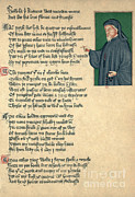 Princes Framed Prints - Geoffrey Chaucer, Father Of English Framed Print by Photo Researchers