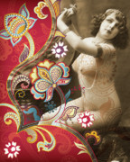 Nostalgic Mixed Media Acrylic Prints - Goddess Acrylic Print by Chris Andruskiewicz