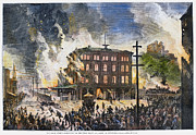 Working Class Prints - Great Railroad Strike, 1877 Print by Granger
