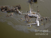 Oil Slick Art - Hurricane Katrina Damage by Science Source