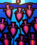 Icon Painting Prints - 10 Irises Print by John  Nolan