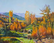 Cropped Painting Prints - Landscape Print by Stoiko Donev