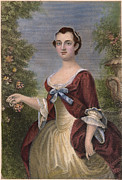 Martha Dandridge Custis Washington Framed Prints - Martha Washington Framed Print by Granger