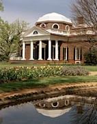 Charlottesville Framed Prints - Monticello, The Home Built By Thomas Framed Print by Everett