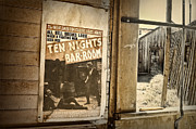 Dust Metal Prints - 10 Nights in a Bar-room Metal Print by Scott Norris