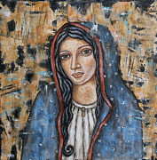 Mexican Art Painting Posters - Our Lady of Guadalupe Poster by Rain Ririn