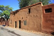 Haunted House Prints - Santa Fe - Adobe Building Print by Frank Romeo