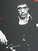 Al Pacino Framed Prints - Scarface Framed Print by Luis Ludzska
