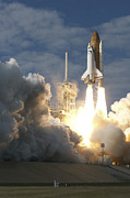 Atlantis Posters - Space Shuttle Atlantis Lifts Poster by Stocktrek Images