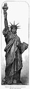 1884 Art - Statue Of Liberty by Granger