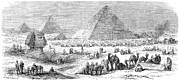 Great Sphinx Framed Prints - Suez Canal Construction Framed Print by Granger