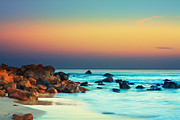 Panoramic Ocean Prints - Sunset Print by MotHaiBaPhoto Prints