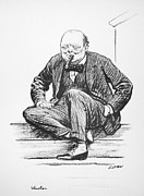 Cigar Prints - Winston Churchill Print by Granger